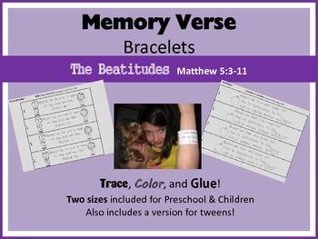 Memory Verse Bracelets - The Beautitudes