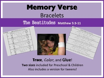 Memory Verse Bracelets - The Beautitudes