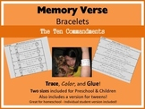 Memory Verse Bracelets - The Ten Commandments