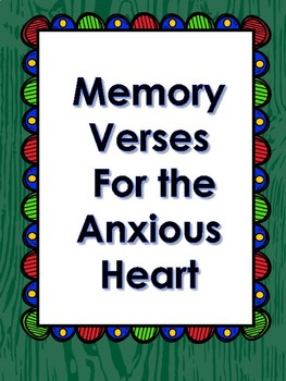Bible Verse Task Cards: Memory Verses For the Anxious Heart