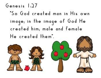 Memory Verse Copy Work Genesis 1:27   Freebie