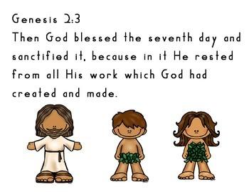 Memory Verse Copy Work Genesis 2:3   Freebie