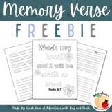 Memory Verse FREEBIE - Psalm 51:7