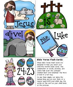 Memory Verse Flash Cards Luke 24:23