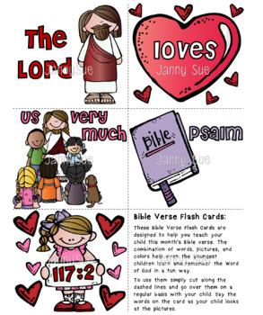 Memory Verse Flash Cards Psalm 117:2