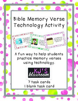 Memory Verse Practice Activity - Technology