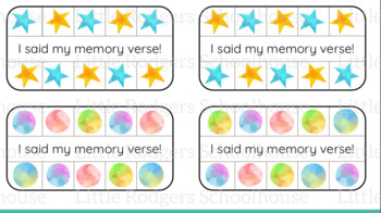 Memory Verse Punch Cards