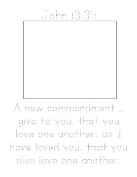 Memory Verse Tracer Page (John 13:34)