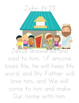 Memory Verse Tracer Page (John 14:23)