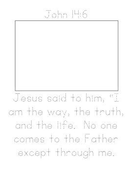 Memory Verse Tracer Page (John 14:6)