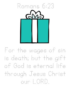Memory Verse Tracer Page (Romans 6:23)