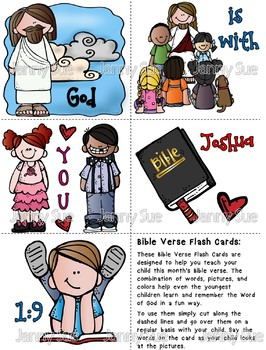 Memory Verse flash cards Joshua 1:9