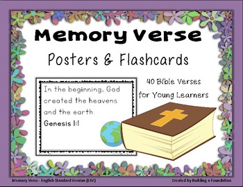 Bible Memory Verses - Posters & Flashcards