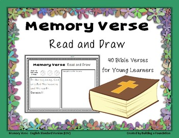 Bible Memory Verses - Read and Draw: An Activity for Memorizing Scripture