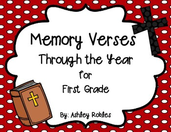 Memory Verses Through the Year for 1st Grade