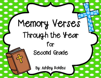 Memory Verses Through the Year for 2nd Grade
