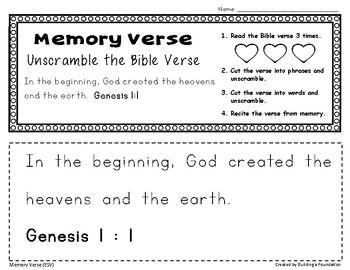 Bible Memory Verses - Unscramble the Verse: An Activity for Memorizing Scripture