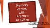 Memory Verses With Practice Activities Angel Talks To Mary ESL ESOL ELL Bible