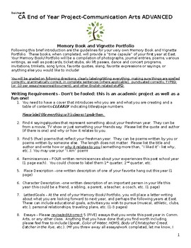 Memory/Vignette Writing End of Year Unit
