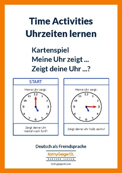 "Memory ""What time is it?"" in German"