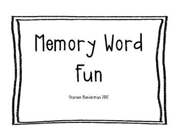 Memory Word Fun