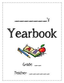 Memory Yearbook - Writing Activities for the End of the Sc