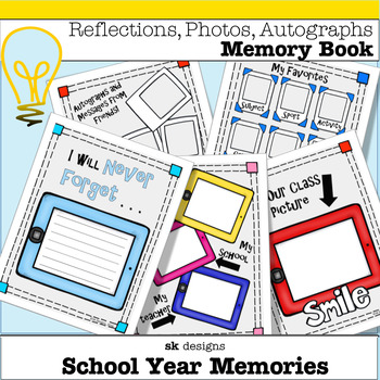 Memory Book: End of the Year Technology Theme Full Color & BW Versions