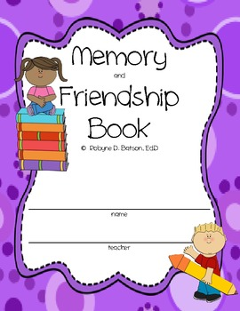 Memory and Friendship Book