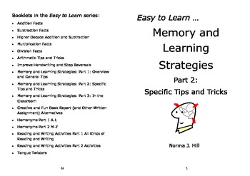 Memory and Learning Strategies 2: Tips & Tricks - Easy Learn Series