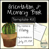 Memory and Orientation Book Templates for Adult Speech Therapy