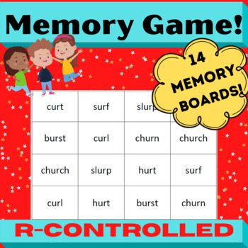 Concentration Memory board games for r-controlled (Bossy r) Orton Gillingham