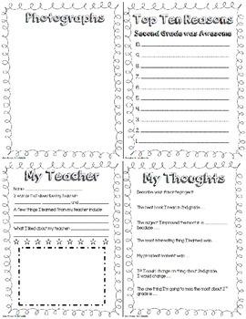 Memory book: 2nd Grade English/Spanish Bundle