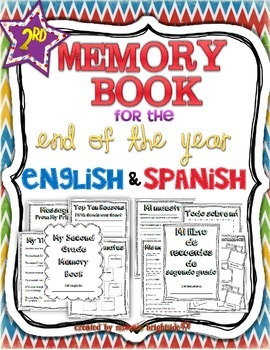Memory book: 2nd Grade English/Spanish Bundle