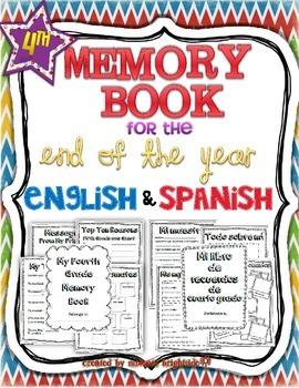 Memory book: 4th Grade English/Spanish Bundle