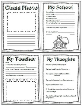Memory book: 5th Grade English/Spanish Bundle
