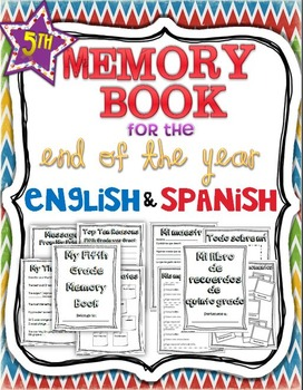 Memory book: 5th Grade English/Spanish Bundle