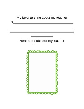 Memory book for the end of year for second grade