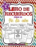 Memory book in Spanish for first grade: Libro de recuerdos