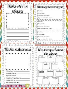 Memory book in Spanish for second grade: Libro de recuerdos