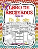 Memory book in Spanish for second grade: Libro de recuerdos