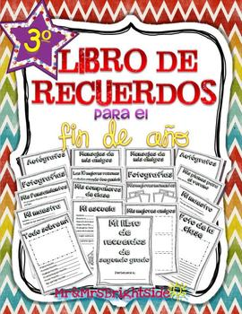 Memory book in Spanish for third grade: Libro de recuerdos