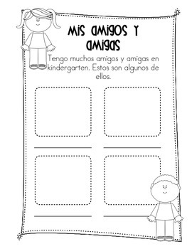 Memory books in Spanish: Kinder, First and Second grades