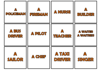 Memory game (cards with occupations)
