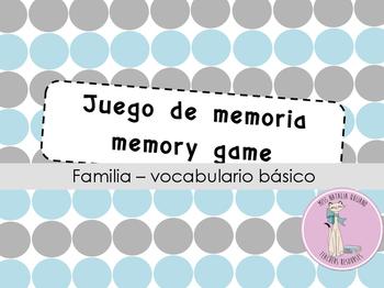 Memory game/ Juego de memoria