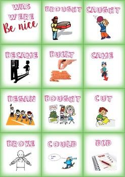 Memory game: Past Simple, Irregular verbs