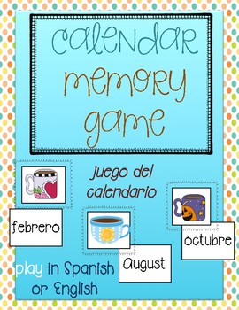 Memory game-months in English and Spanish