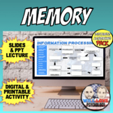 Memory | Psychology | Distance Learning Pack