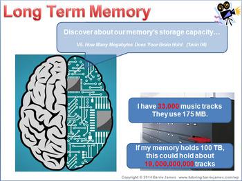 Memory - long term and short term memory