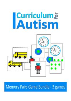 Memory Pairs Games Autism Special Education Turn Taking Social Skills