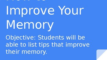 Memory tricks and tips